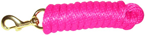 Extra Heavy Poly Rope Lead 10ft HOT PINK Hamilton Animal Products