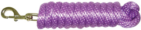 Extra Heavy Poly Rope Lead 10ft LAVENDER Hamilton Animal Products