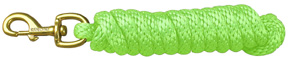 Extra Heavy Poly Rope Lead 10ft LIME Hamilton Animal Products
