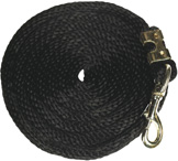Poly Lead 9ft Bolt Snap BLACK Partrade