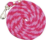 Poly Lead 9ft Bolt Snap PINK RASPBERRY Partrade