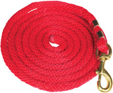 Poly Lead 9ft Bolt Snap RED Partrade