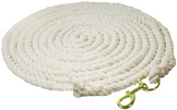 Lunge Line Cotton 25ft White Partrade