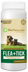 Flea + Tick Repellent Wipes 60 ct. Pet Naturals