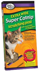 SUPER CATNIP Scratching Post Extrawide Four Paws
