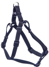 Comfort Wrap Adjustable Nylon Dog Harness Black