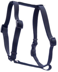 Standard Adjustable Nylon Dog Harness Nylon Black SMALL