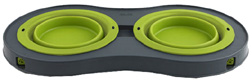 Elevated Feeder Double Bowl 20 oz. LARGE GREEN