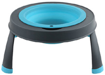 Elevated Feeder Single Bowl 1.5 Cup/12 oz. SMALL BLUE