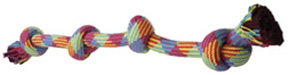 FLOSSY CHEWS EXTRA Rope Toy 4 KNOT Tug Colossal