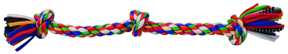 FLOSSY CHEWS Rope Tug Color 3 KNOT Extra Large