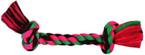 FLOSSY CHEWS Rope Toy Cottonblend 2 KNOT Bone Colossal
