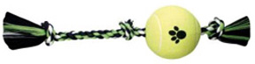 "FLOSSY CHEWS Rope Tug and 6"" Tennis Ball Extra Large"