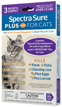 Spectra Sure PLUS IGR for Cats (Over 1.5 lbs) 3 Dose Durvet