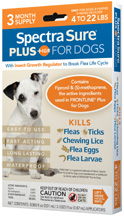 Spectra Sure PLUS IGR for Dogs (4-22 lbs) 3 Dose Durvet