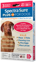 Spectra Sure PLUS IGR for Dogs (45-88 lbs) 3 Dose Durvet