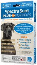 Spectra Sure PLUS IGR for Dogs (89-132 lbs) 3 Dose Durvet