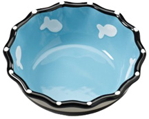 Contemporary Ruffle Dish 5 inch BLUE CAT