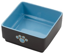 Four Square Dish 5 inch BLUE DOG