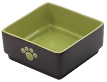 Four Square Dish 5 inch GREEN DOG