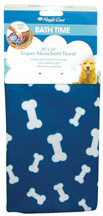 Magic Coat Bath Time Super Absorbent Towel BLUE