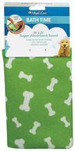 Magic Coat Bath Time Super Absorbent Towel GREEN