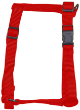 Adjustable Comfort Dog Harness Red LARGE