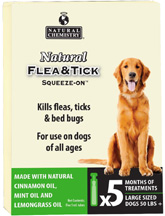 Natural Flea & Tick Squeeze On DOG LARGE (50+ lbs.)