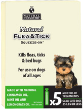 Natural Flea & Tick Squeeze On DOG SMALL (25 lbs. or less)