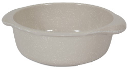 Muttnation Crock Bowl 2.5 Cups WHITE
