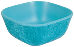 Muttnation Melamine Square Bowl 1.5 Cups TURQUOISE