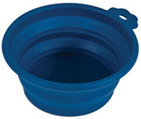 Silicone Round Travel Bowl 1.5 CUPS BLUE