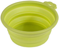 Silicone Round Travel Bowl 3 CUPS GO-GO GREEN