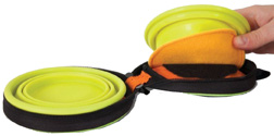 Silicone Bowl Travel Duo 1.5 CUPS NAVY BLUE/GO GO GREEN