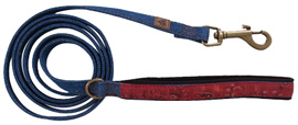 Muttnation Blue Denim Leash Red Bandana SMALL LARGE