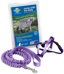 Come With Me Kitty Harness Bungee Leash Lilac-Deep Purple
