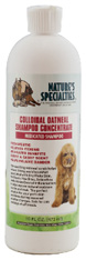 Pet Shampoo Colloidal Oatmeal Medicated 16 oz. Natures Specialties