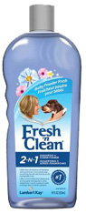 FRESH N CLEAN 2 IN 1 SHAMPOO CONDITIONER Baby Powder Scent 18 oz. PetAg Lambert Kay