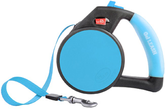 Retractable Gel Leash Blue