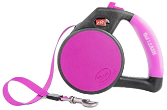 Retractable Gel Leash Pink