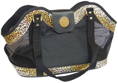 New York Dog Open Tote Leopard